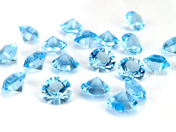 1088 UNFOILED Round Pointed Back Crystals, Aquamarine